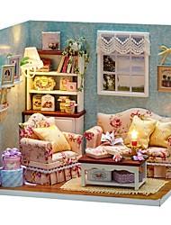 abordables -Maison de Poupées Créatif A Faire Soi-Même Meuble Maison En bois Adolescent Jouet Cadeau