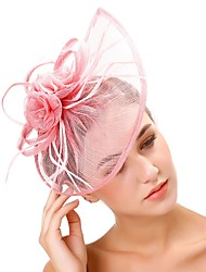 cheap -Tulle / Feathers Hats with Feather 1 pc Wedding / Party / Evening Headpiece