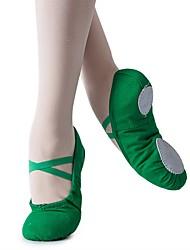 cheap -Girls' Ballet Shoes Flat Flat Heel Dark Green Red