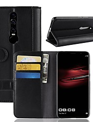 cheap -Case For Huawei Huawei Mate RS Porsche Design / Mate 10 / Mate 10 pro Wallet / Card Holder / with Stand Full Body Cases Solid Colored Hard Genuine Leather