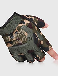 cheap -Gloves Climbing Gloves Sports Gloves Nylon Silica Gel Breathable Mesh Shock Resistant Adjustable Size Breathable Thick Anti Slip Climbing Cycling / Bike Police / Military For Mountain Bike Outdoor