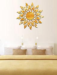 Недорогие -Творческий солнце солнце огонь подсолнечника стикер стены 3d зеркальный эффект искусства росписи diy съемные наклейки этикеты muraux домашнего декора