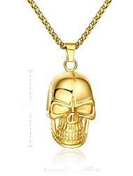 cheap -Pendant Necklace Geometrical Mexican Sugar Skull Vintage Stainless Steel Gold 50 cm Necklace Jewelry For Gift Daily