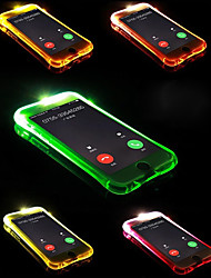 cheap -Case For Apple iPhone X / iPhone 8 Plus / iPhone 8 LED Flash Lighting Back Cover Solid Colored Soft TPU