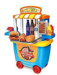 abordables -Sets Jouet Cuisine Maison BBQ Interaction parent-enfant ABS + PC Enfant Jouet Cadeau 33 pcs