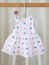cheap -Baby Girls' Basic Floral Sleeveless Cotton Dress White / Toddler