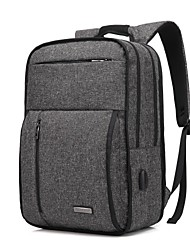 "cheap -Coolbell 13"" Laptop / 14"" Laptop / 15"" Laptop Commuter Backpacks Nylon Solid Colored for Business Office for Colleages & Schools for Travel with USB Charging Port / Headphones Hole"