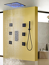 cheap -Shower Faucet - Contemporary Painting Shower System Ceramic Valve / Brass