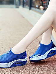 cheap -Women's Athletic Shoes Wedge Heel Tulle Comfort Tennis Shoes / Walking Shoes Spring & Summer Gray / Pink / Royal Blue / EU37