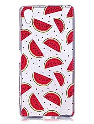 cheap -Case For SonyXperia XZ2 / Xperia XA2 / SonyXperia XA1 Transparent / Pattern Back Cover Fruit Soft TPU