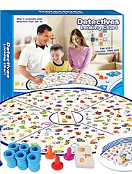 cheap -Board Game Professional Parent-Child Interaction Detectives Looking Chart 1 pcs Kid's Adults Teenager Boys' Girls' Toy Gift