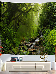 cheap -Wall Tapestry Art Decor Blanket Curtain Picnic Tablecloth Hanging Home Bedroom Living Room Dorm Decoration Nature Landscape Misty Forest Jungle River
