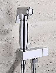cheap -Bathroom Sink Faucet - Self-Cleaning Chrome Handheld bidet Sprayer One Hole / Single Handle One HoleBath Taps