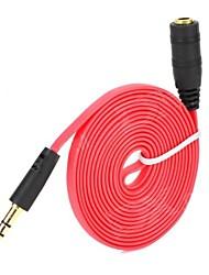Недорогие -3.5mm jack самец к кабелю стерео аудио удлинение aux кабель шнур для iphone для ipod mp3 автомобиль автомобильная проводка