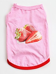 cheap -Dogs Cats Pets Vest Dog Clothes Pink Costume Beagle Bulldog Shiba Inu Cotton Cartoon Casual / Daily Sweet XS S M L