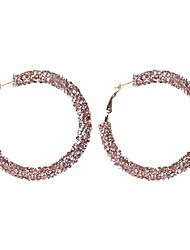 Недорогие -Серьги-кольца Серьги, обнимающие мочку уха Мачете звездная пыль Дамы Простой европейский корейский Серьги Бижутерия Розовый / Светло-синий / Тёмно-синий Назначение Повседневные Офис и карьера