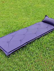 cheap -Self-Inflating Sleeping Pad Air Pad Make It Double Outdoor Camping Portable Moistureproof Inflatable Polyester 183*60*2.5 cm Camping / Hiking Outdoor for 1 person Autumn / Fall Spring Summer Dark Navy