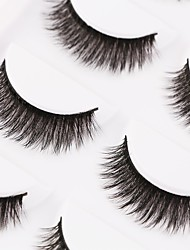 cheap -Eyelash Extensions False Eyelashes 10 pcs Volumized Natural Curly Animal wool eyelash Daily Full Strip Lashes Thick - Makeup Daily Makeup Professional Portable Cosmetic Grooming Supplies