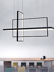 cheap -3-Light 85cm LED Dimmable Pendant Light Aluminum Linear Chandelier Painted Finishes 90W Gold Silver Black White for Living Room Dining Room Home Lighting
