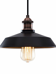 cheap -Northern Europe Vintage Industry Metal Shade Pendant Lights 1-Lights Dining Room Living Room Kitchen Painted Finish