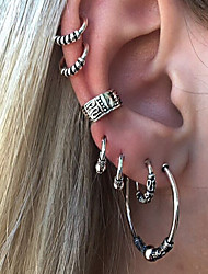 cheap -Hoop Earrings cuff Ladies Vintage European Fashion Earrings Jewelry Silver For Street 7pcs