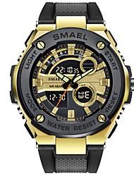 cheap -Men's Sport Watch Digital Watch Quartz Quilted PU Leather Black 30 m Calendar / date / day Analog - Digital Casual - Gold Black Rose Gold