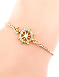 cheap -Chain Bracelet Handmade Link Bracelet Dainty Ladies Simple Vintage Fashion Alloy Bracelet Jewelry Gold For Daily Holiday