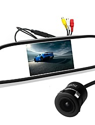 cheap -ZIQIAO 5 Inch TFT-LCD CCD Wired 170 Degree Car Rear View Kit Foldable Waterproof for Car