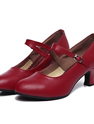 cheap -Women's Dance Shoes Cowhide Modern Shoes/Character Shoes Heel Customized Heel Customizable Black / Drak Red / Indoor / Performance / EU40