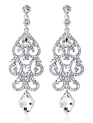 cheap -Crystal Drop Earrings Chandelier Drop Ladies Fashion Elegant Bridal everyday Earrings Jewelry Silver For Wedding Party / Evening