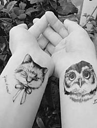 cheap -10 pcs Tattoo Stickers Temporary Tattoos Animal Series Body Arts Arm