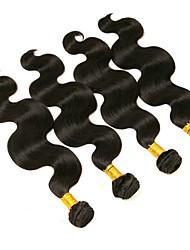 cheap -4 Bundles Brazilian Hair Body Wave Human Hair Natural Color Hair Weaves / Hair Bulk One Pack Solution Human Hair Extensions 8-28 inch Natural Color Human Hair Weaves Extention Best Quality Hot Sale