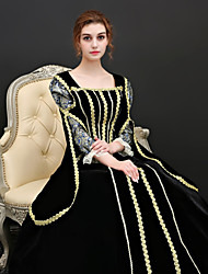 cheap -Maria Antonietta Victorian Renaissance Dress Outfits Party Costume Masquerade Women's Costume Black Vintage Cosplay Party Prom 3/4 Length Sleeve Ball Gown Plus Size Customized