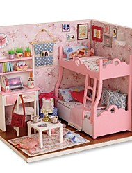 cheap -Dollhouse Building Kit Miniature Room Accessories Creative DIY Exquisite Mini Furniture House Wooden Romantic Kid's Boys' Girls' Toy Gift