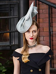cheap -Polyester Kentucky Derby Hat / Headwear with Feather / Floral 1pc Wedding / Party / Evening Headpiece