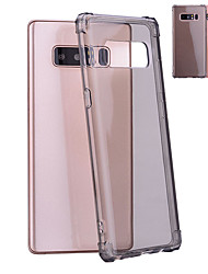 cheap -Case For Samsung Galaxy Note 8 Shockproof / Translucent Back Cover Solid Colored Soft TPU