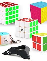 abordables -9 pièces Cube magique Cube QI QIYI QIYI-A Pyramorphix Extraterrestre Mini 2*2*2 3*3*3 4*4*4 5*5*5 Cube de Vitesse  Cubes Magiques Anti-Stress Casse-tête Cube Autocollant Lisse Niveau professionnel