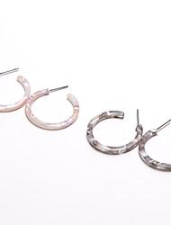 Недорогие -Серьги-кольца Серьги, обнимающие мочку уха Дамы Простой Мода Серьги Бижутерия Белый / Серый Назначение Повседневные