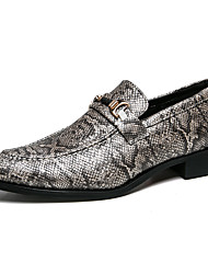 cheap -Men's Formal Shoes PU Spring & Summer / Fall & Winter Casual / British Loafers & Slip-Ons Black / Gray / Party & Evening