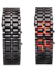Недорогие -Муж. электронные часы Цифровой Черный Секундомер Светящийся Круто слов / фраз Цифровой камуфляж - Черный Один год Срок службы батареи / SSUO LR626