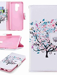 cheap -Case For LG LG V30 / LG V20 / LG Q6 Wallet / Card Holder / with Stand Full Body Cases Tree Hard PU Leather / LG G6