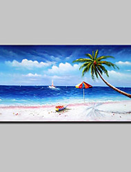 cheap -Mintura® Hand Painted Modern Abstract Landscape Oil Painting On Canvas Wall Art Pictures For Home Decoration Ready To Hang