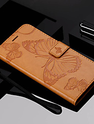 cheap -Case For Motorola Moto Z Force / Moto X Style / MOTO G6 Wallet / Card Holder / with Stand Full Body Cases Butterfly Hard PU Leather / Moto G5 Plus