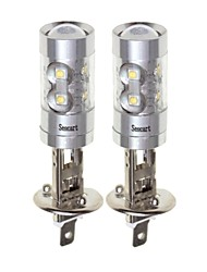 cheap -SENCART 2pcs H1 Motorcycle / Car Light Bulbs 50W SMD LED 3100lm 10 LED Fog Light For universal All years