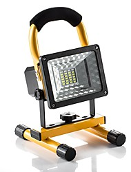cheap -KWB 1pc 30 W LED Floodlight Waterproof / Dimmable Color-changing 5 V Outdoor Lighting 24 LED Beads
