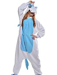 cheap -Adults' Kigurumi Pajamas Unicorn Animal Onesie Pajamas Coral fleece Blue Cosplay For Men and Women Animal Sleepwear Cartoon Festival / Holiday Costumes / Leotard / Onesie