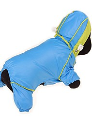 cheap -Dogs Cats Pets Rain Coat Waterproof Puffer / Down Jacket Dog Clothes Fuchsia Yellow Blue Costume Husky Dalmatian Japanese Spitz Fabric Solid Colored Color Block Simple Sports & Outdoors Casual