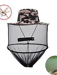 cheap -Adults Sun Hat Bucket Hat Summer Camping & Hiking Fishing Nylon Tulle Waterproof UV Resistant Breathable / Camo / Camouflage / Quick Dry