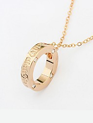 cheap -Women's Pendant Necklace Ladies Fashion Alloy Gold 40+5 cm Necklace Jewelry 1pc For School Street