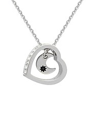 cheap -Women's Pendant Necklace Moon Heart Crescent Moon Ladies Sweet Fashion Alloy Silver 48 cm Necklace Jewelry 1pc For Date Street